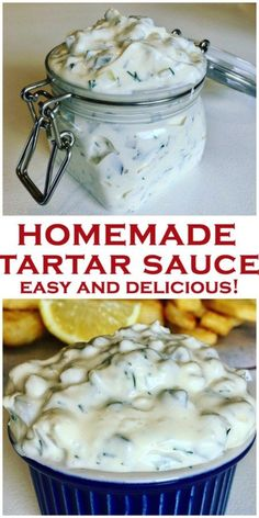 Quick and easy homemade Tartar Sauce, tastier than store bought! Made with dill pickles and mayo, and no added sugar, perfect for fish fingers or fish and chips, a dip you won't be able to stop eating! Homemade Tartar Sauce Recipe