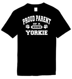 Amazon.com: Kids Funny T-Shirt (Proud Parent of a Yorkie) Youth Tee Shirt: Clothing