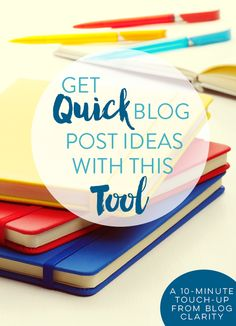 It's easy to run out of blog post ideas, not matter how long you've been blogging. This little tool can help you with blog post ideas in a pinch!