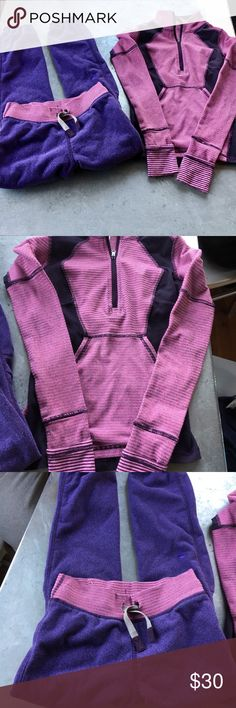 Ivivva Sweat Gym Set Jacket Sz 8 Sweats 6 Purple In used condition. The Jacket looks to run small. Ivivva Matching Sets
