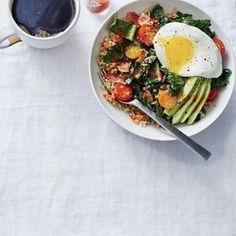 Egg-Topped Quinoa Bowl with Kale   Myrecipes