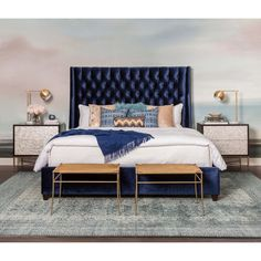 Room Ideas / Bedroom / Seaside Rendezvous – High Fashion Home Room Ideas Bedroom, Dream Bedroom, Home Decor Bedroom, Modern Bedroom, Bedroom Furniture, Bed Room, Girls Bedroom, Seaside Bedroom, Eclectic Bedrooms