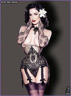 vintage lingerie | Modern and Vintage Burlesque Lingerie Style - Socialphy