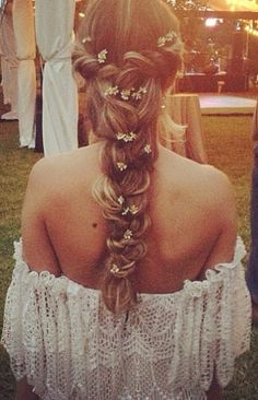 Ever since I was a little girl, I started growing out my hair envisioning a style like this for my wedding!
