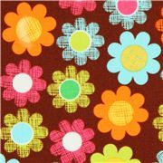 brown cute flower fabric by Michael Miller USA