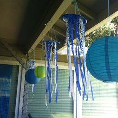 Under the sea birthday party patio decorations