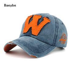0715eed28dc Letter W baseball cap snapback men women embroidery cotton adjustable hip  hop trucker sun cap hat