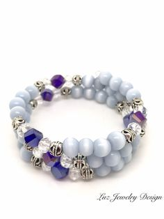 A personal favorite from my Etsy shop https://www.etsy.com/listing/505729302/blue-memory-bracelet-white-memory