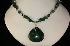 African Transvaal Jade necklace by lleasa on Etsy, $35.00