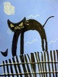 Artsonia Art Exhibit :: Kindergarten Black Cats.  CHILDREN'S CAT'S ARE SO CUTE AND REALLY DEPICT CAT ATTITUDE! :)