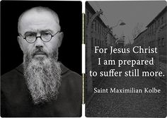 Saint Maximilian Kolbe was a Polish Conventual Franciscan Friar who volunteered to die in place of a stranger in the Nazi concentration camp of Auschwitz in Poland. #StMaximillianKolbe #PrayForUs