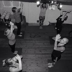 Sun salutations #yogaroom #yogis #hathaflow #dailypractice