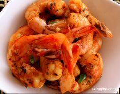Skinny Roasted Shrimp