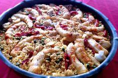 """La recette: Paëlla aux poissons, via le site """"Les Recettes de ma Mère"""" (artichaut,paella,casher,crevettes,poisson).  http://lesrecettesdemamere.net/recette/paella-aux-poissons/"""