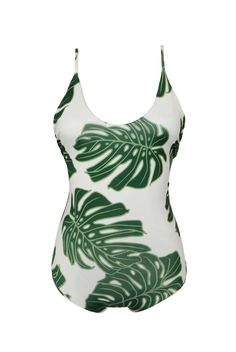 Greenlee Swim Green Leaf Scoop Tank Onesie >> SHOP NOW stillandsea.com / 2110 S Lamar #ATX 78704