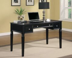 Home Office > Table Desk > Desks Classic Table Desk with Keyboard Drawer and Power Outlet. Home Office Computer Desk, Home Office Furniture, Furniture Ideas, Furniture Outlet, Furniture Stores, Discount Furniture, Kitchen Furniture, Cheap Furniture, Furniture Removal