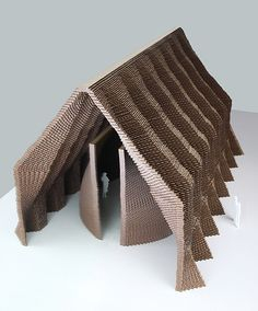 Technische Universiteit Eindhoven student Ricardo Ploemen has designed a conceptual chapel with wavy brick walls, using an AutoCad script to determine the structure of each facade. Tectonic Architecture, Parametric Architecture, Brick Architecture, Parametric Design, Architecture Details, Interior Architecture, Eindhoven, Smart Home Design, Brick Facade