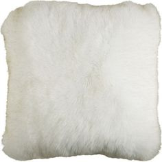 Faux Fur Arctic Fox Pillow