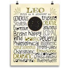 Leo • Zodiac Print