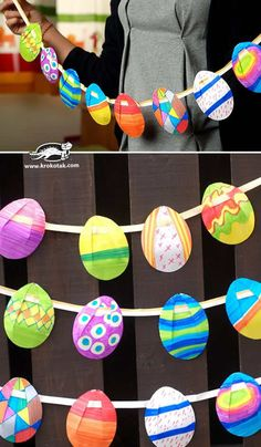 There are two watercolor techniques that can be used to create watercolor surprise Easter Egg art for kids using our FREE Easter Egg printable template. Invite children to paint Easter Egg art using a watercolor resist medium or the wet-on-wet watercolor Easter Crafts For Toddlers, Easy Easter Crafts, Easter Activities, Easter Crafts For Kids, Toddler Crafts, Easter Decor, Toddler Preschool, Easter Garland, Egg Art