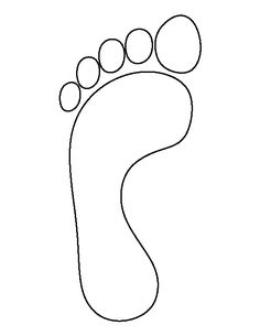 Footprint pattern. Use the printable outline for crafts, creating stencils, scrapbooking, and more. Free PDF template to download and print at http://patternuniverse.com/download/footprint-pattern/