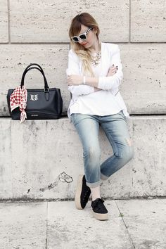look casual bianco Dressing and Toppings blousa @miawish
