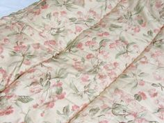 Ralph Lauren Belmont Oaks Pink Tropical Floral Full/Queen Comforter, Cream-Italy #RalphLauren #Tropical