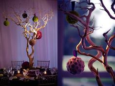 Bare branch table settings