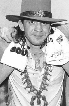 Steve Ray Vaughan, William Christopher, Stevie Ray, Blues, Celebrities, Guitar Players, Cowboy Hats, Texas, Fashion