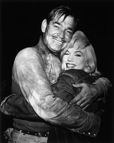 Clark Gable and Marilyn Monroe during the filming of The Misfits, 1961
