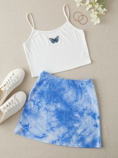 Boujee Outfits, Teen Girl Outfits, Crop Top Outfits, Girls Fashion Clothes, Teen Fashion Outfits, Outfits For Teens, Girl Fashion, Matching Outfits, Cute Summer Outfits