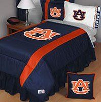 Auburn University Sidelines Comforter Size: Full/Queen by Sports Coverage Inc.. $79.28. Officially licensed. Fits standard full or queen size bed (86 x 86).. Soft, comfy 100% polyester feel keeps you toasty warm as you crash into the end zone in your dreams beneath a screen printed logo with team colored strips down both sides.. Support the Auburn Tigers even while you're asleep with this Auburn Tigers Sideline Jersey Mesh Full/Queen Comforter.. It's m...