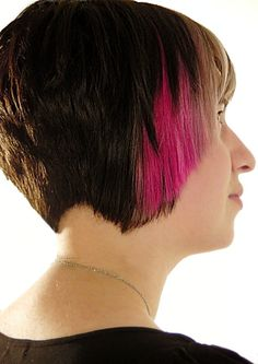 lovely cut with a dip dye!