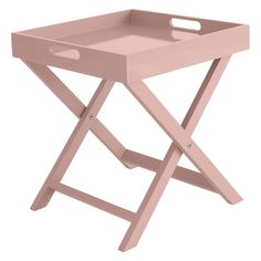 Get two products in one with the high-gloss lacquered Oken dusty pink square folding side table, which has a removable tray top. Buy now at Habitat UK. Furniture Care, Living Furniture, Pink Bedside Tables, Dusty Pink Bedroom, Pink Room, Oak Bedroom, Bedroom Ideas, Square Tray, White Side Tables