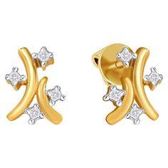 Atropa Diamond Stud Earrings