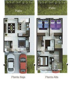 23 Clever DIY Christmas Decoration Ideas By Crafty Panda Simple Floor Plans, Small House Floor Plans, Duplex House Plans, Duplex House Design, Small House Design, Dream House Plans, Modern House Plans, Building A Small House, House Construction Plan