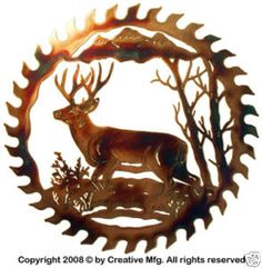 DEER WILDLIFE METAL ART RUSTIC LODGE CABIN WALL DECOR