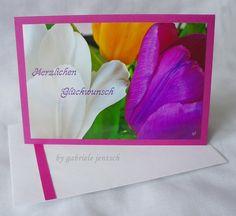 "Geburtstagskarte ""Tulpen"" von PHOTOGLÜCK auf DaWanda.com"