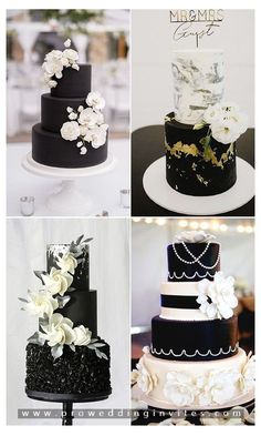 For a complex celebration, stick to the tried-and-true method: black and white!This classic combination is timeless and versatile enough to match any wedding theme or venue.