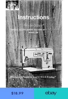 Singer Genie Model 353 354 Sewing Machine Instruction