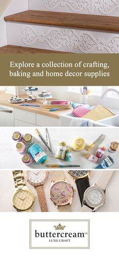 Nothing brings happiness to your home better than personalizing your home decor! Create home decor specific to you with Buttercream crafting components, finished décor and baking items.