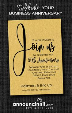 151 best business invitations images on pinterest join us shimmery white business anniversary invitations stopboris Images