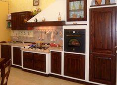 Cucina in muratura rustica Faolina