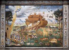 Aurelio Luini - Noah's Ark - 1556 Fresco in the Chiesa di San Maurizio, Milano    #TuscanyAgriturismoGiratola