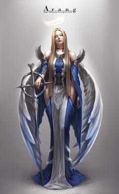 45 Ideas Digital Art Fantasy Girl Warriors Character Design For 2019 Fantasy Warrior, Angel Warrior, Fantasy Women, Fantasy Girl, Dark Fantasy, Fantasy Character Design, Character Inspiration, Character Art, Foto Fantasy
