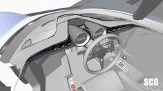 【新車スクープ】SCGが650馬力の新型スーパーカーの3シータースケッチを初公開! 写真・画像