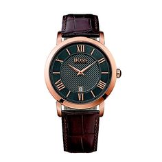 Cool Hugo Boss Watches Brown Leather Strap