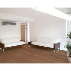 Piso Laminado Eucafloor Prime 7mm x 19,7cm x 1,35m (m²) Natural Nogueira