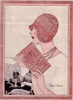 1920s, 1929, cloche, deco, fashion, fashion illustration - inspiring picture on Favim.com