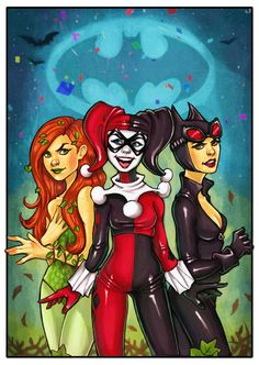 Gotham city naughty girls deviant art | Gotham City Sirens by chrissie-zullo